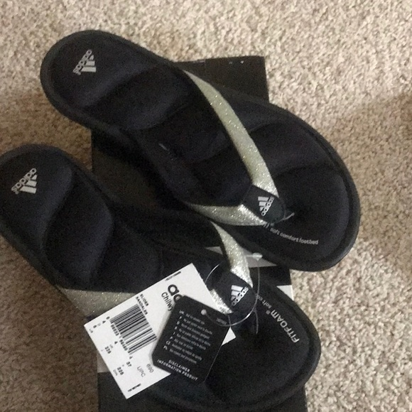 0a9e09511728 adidas Shoes | Slides Glitter New Size 5 | Poshmark